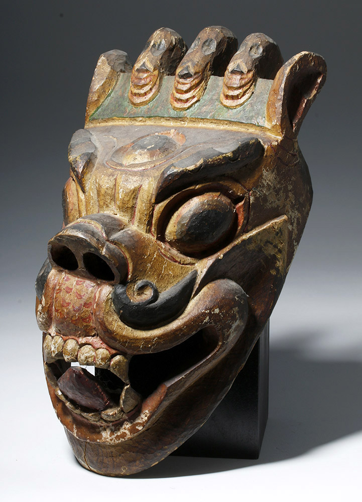 Himalayan / Nepalese  Carved Wood Demon Mask