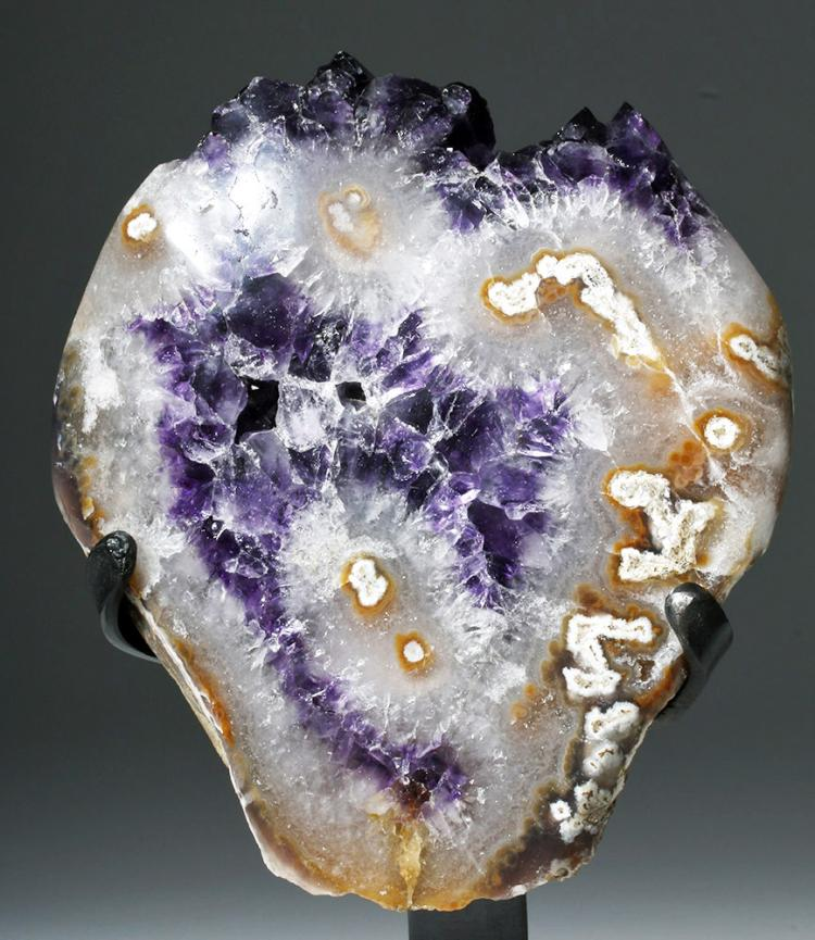Lovely Amethyst & Quartz Geode Section - 10 Lbs