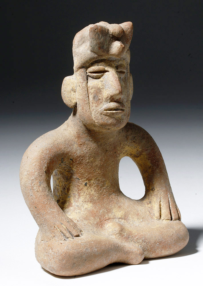 Pre-Columbian Pottery Seated Figure