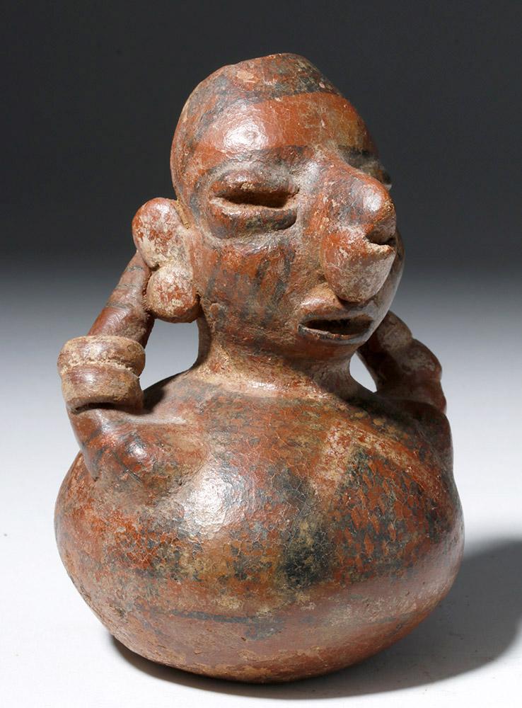 Rare Nayarit Pottery Human-Form Olla