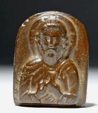 10th C. Byzantine Bronze Icon - Saint Nicholas