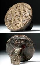 Greek Orthodox Wood Bread Stamp - Dated 1827