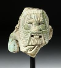Ancient Egyptian Faience Fragmented of Bes