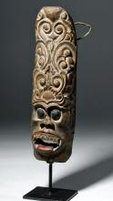 20th C. Unusual Antique Bali Wooden Mask