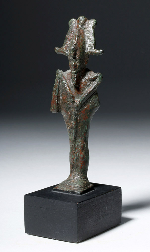 Egyptian Bronze Standing Mummiform Osiris