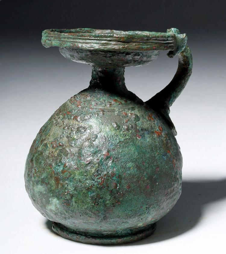 Greek Bronze Aryballos