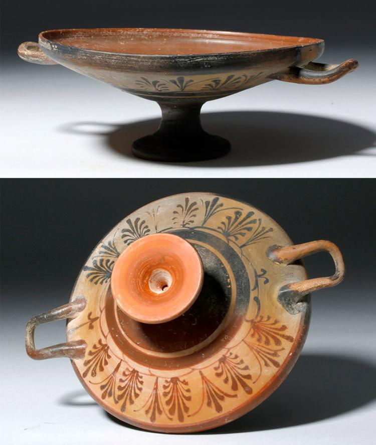 Rare Greek Boeotian Pottery Kylix