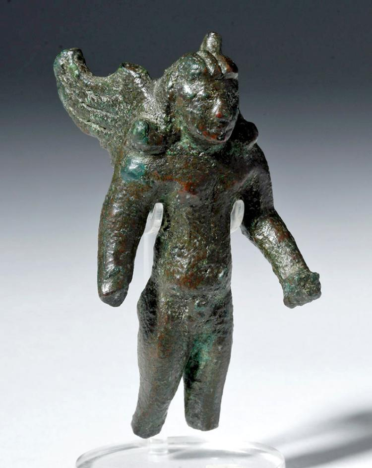 Ancient Roman Bronze Winged Figure