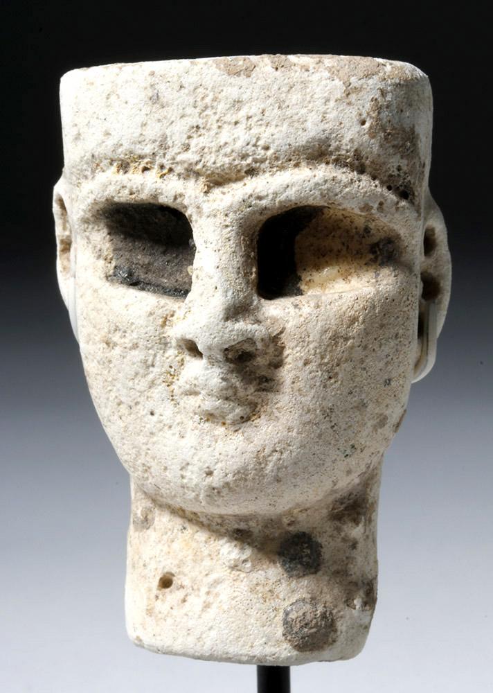 Rare / Early Near-Eastern Gypsum Head of Deity