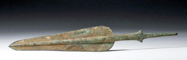 Luristan Marlik-Style Bronze Spearhead -Beautiful Shape
