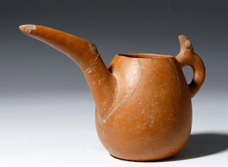 Marlik Redware Pitcher - Animal Form Spout & Handle