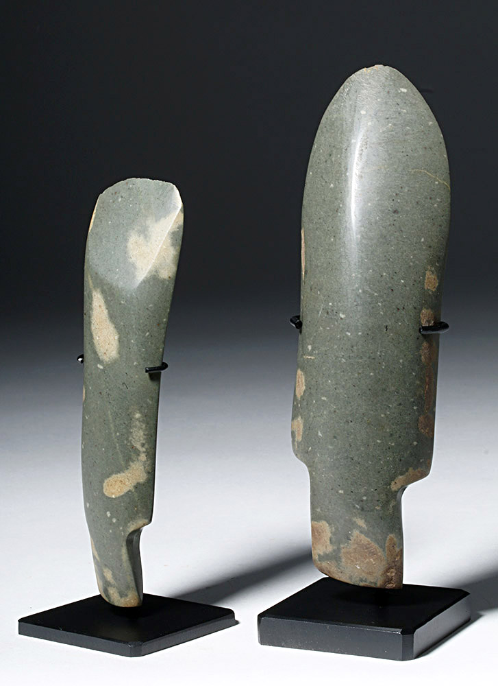 Pair of Fine Thai Neolithic Stone Adzes