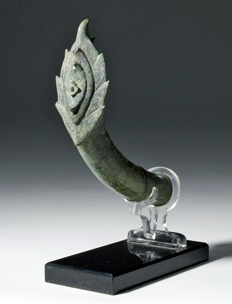 Wonderful Khmer Bronze Palanquin Hook Fitting