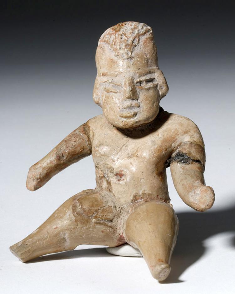Olmec / Tlatilco Pottery Seated Female