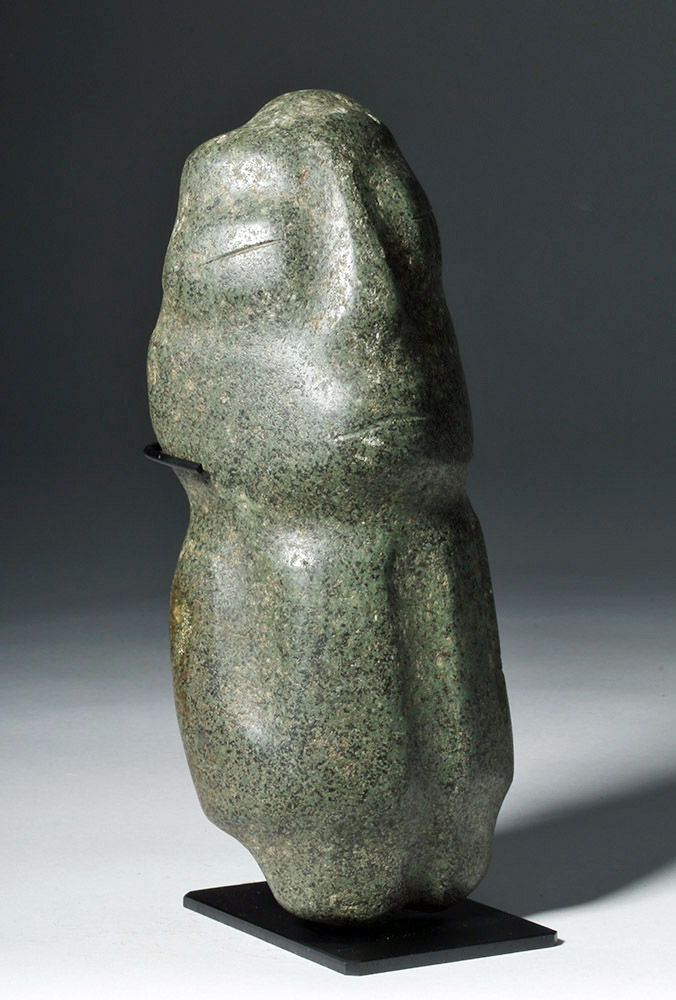 Huge Mezcala Guerrero Greenstone Figure