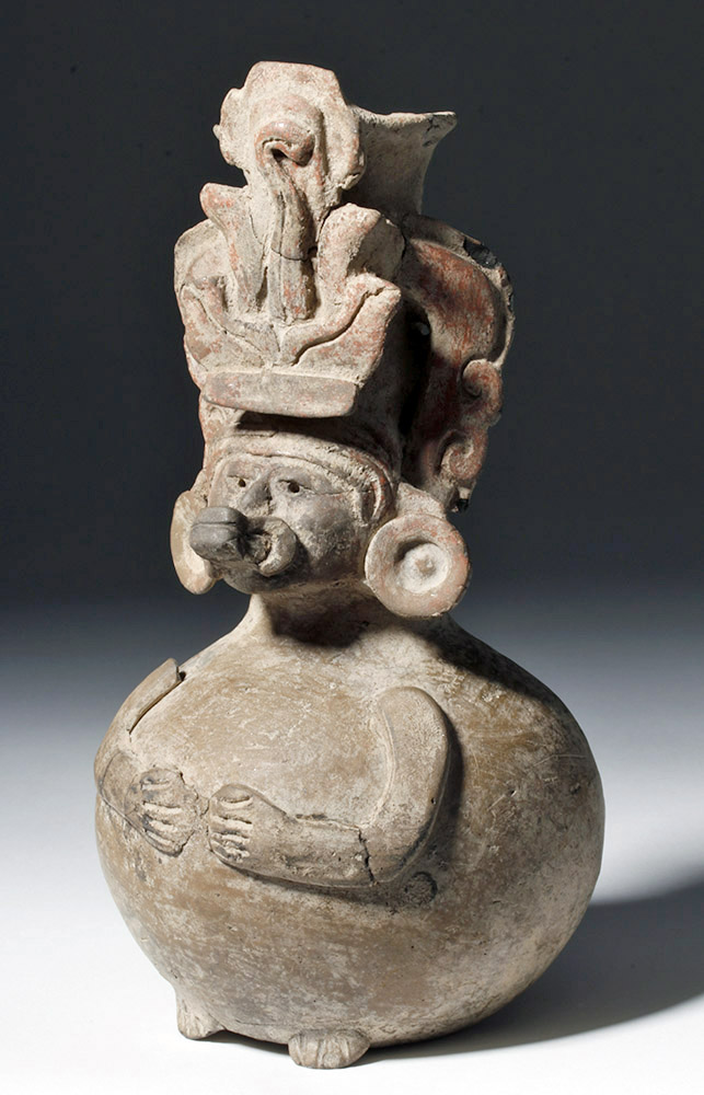 Rare Monte Alban Crema Paste Bottle - Seated Lord