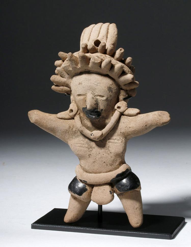Handsome Veracruz Pottery Standing Warrior