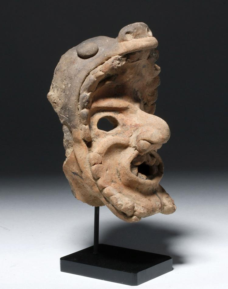 Veracruz Pottery Head Depicting the Old God