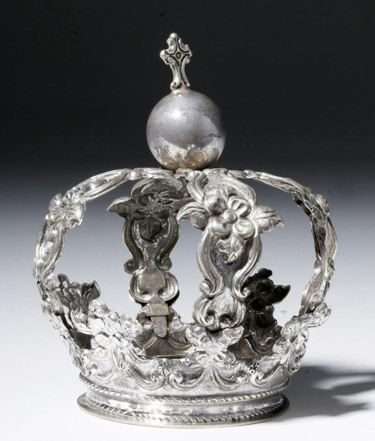 Fine Spanish Colonial Silver Crown, ex-Historia