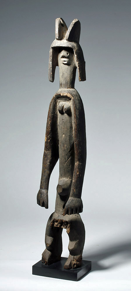 Large Carved Wooden African Mumuye Figure