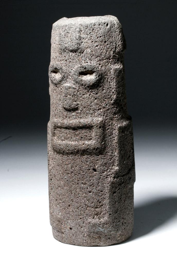 Rare Toltec Volcanic Stone Figural Mortar