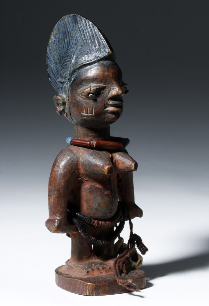 Fine/Early 19th C. African Ibeji Wood Female Figure