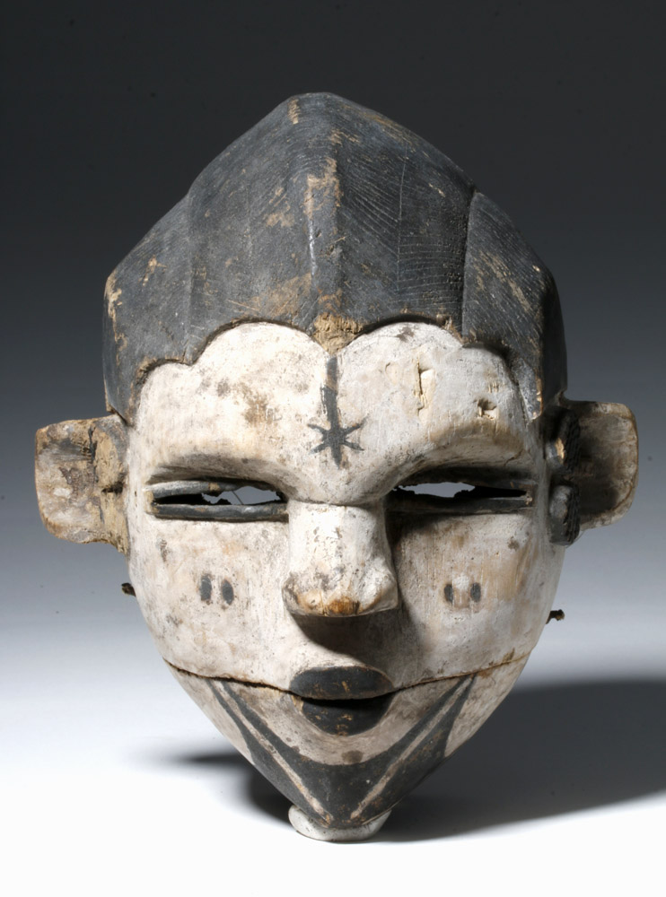 20th C. Nigeria Ogoni Wood Mask, Articulated Jaw