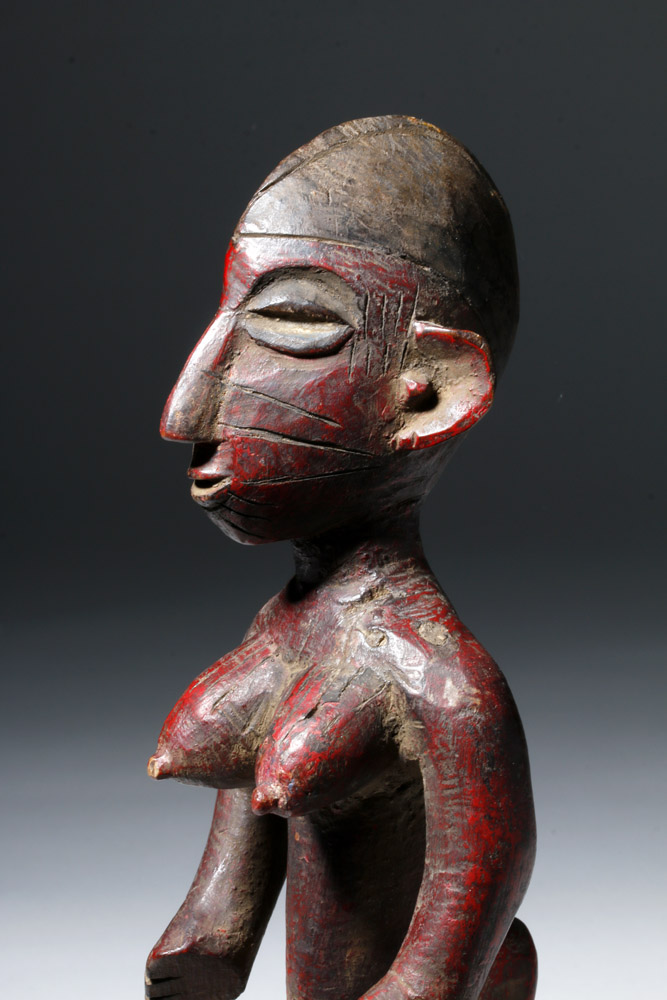 Senufo Painted Wood Female Divination Figure