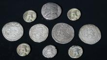 Ten Ancient Persian Silver Coins - Kings of Persia