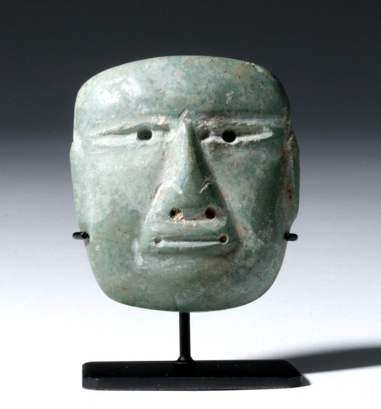 Miniature Olmec Jadeite Maskette