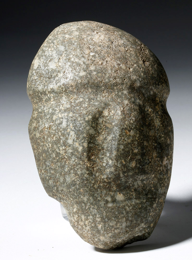 Mezcala Guerrero Gray/ Brown Stone Mask
