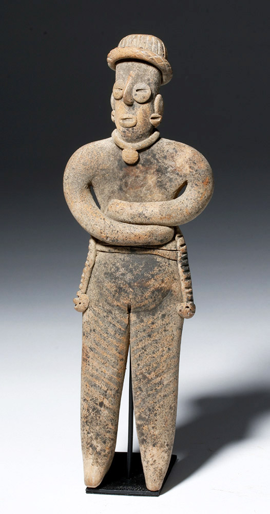 Unusually Tall Colima Pottery Flat Female