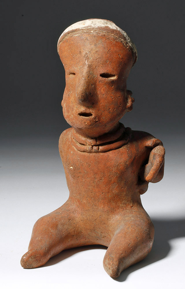 Nayarit Pottery Figure of a Seated Young Female