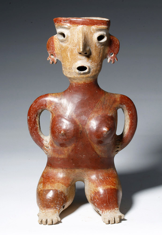 Gorgeous Zacatecas Pottery Seated Female