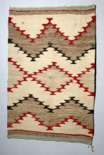 Early / Vibrant Navajo Wool Saddle Blanket