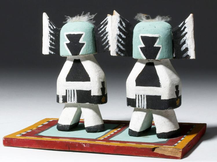 Twin Hopi Crow Mother Katsina Dolls