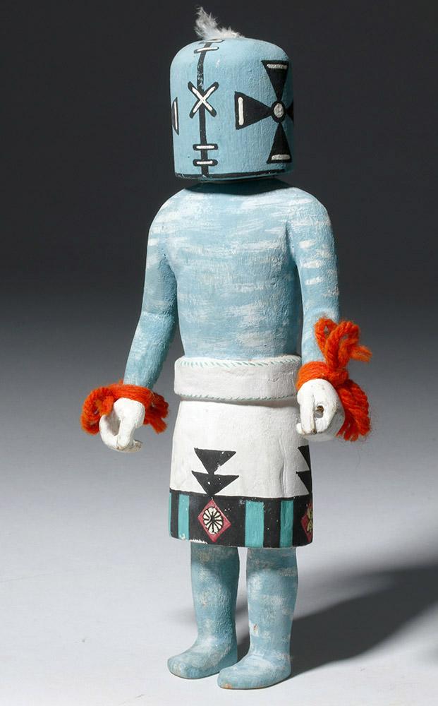 Hopi Katsina Rattle Doll - Rarely Carved