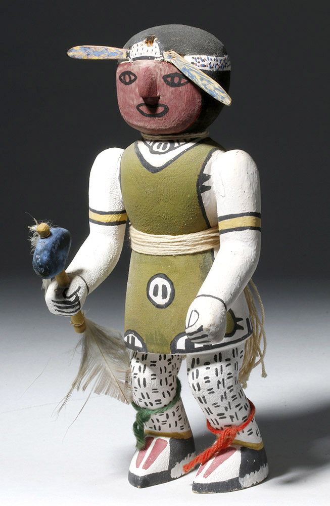 San Juan Pueblo Painted Wood Dancer Figure