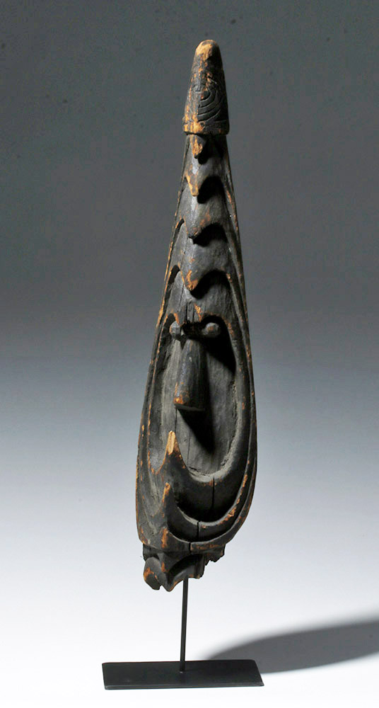 PNG Madang Province, Ramu River Wooden Hook Mask