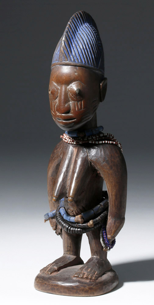 Superb Early African Wooden Female Ibeji Twin