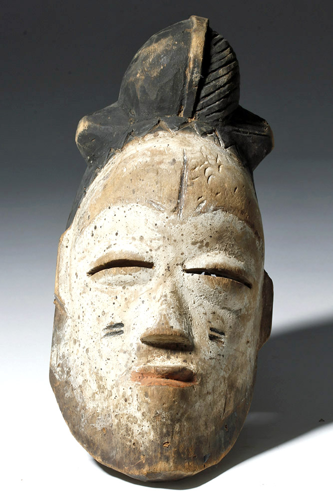 African Igbo Wood Mask - Abstract Human Face