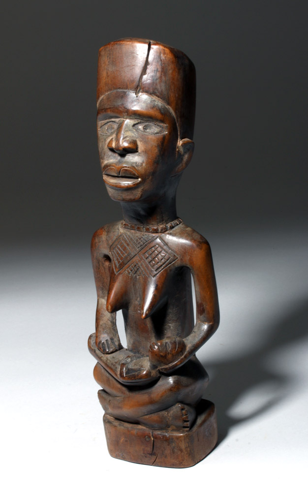 Bakongo Hand-Carved Wood Maternity Figural Pair