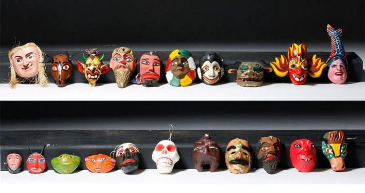 Collection of 28 Miniature Masks