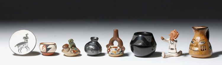 Miniature Native American / Peruvian Pottery Vessels