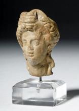 Classical Ancient Greek Terracotta Goddess Head