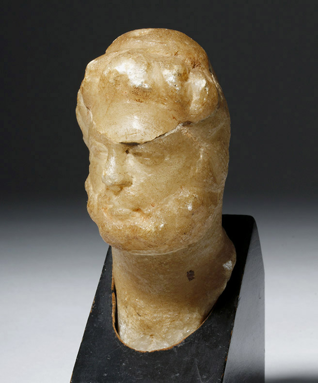 Lovely Roman Alabaster Bust - 2nd Century