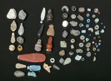Egyptian Mixed Lot of Faience Beads & Amulets