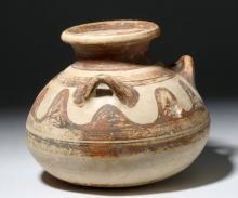 Mycenaean Pottery Three Handled Jar