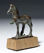Ancient Roman Bronze Miniature Passant Horse