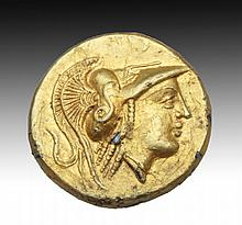 CELTIC VARIATION OF GREEK GOLD STATER ALEXANDER